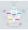 Business infographics concept with five stage vector image