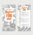 mexican food restaurant menu template vector image