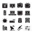 television icon set vector image