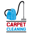 carpet cleaning service vector image vector image