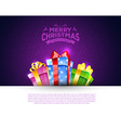 Colorful gift boxes with bows vector image vector image