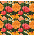 Floral seamless patterns vector image vector image