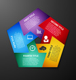 Progress icons for five steps vector image
