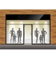 Clothing Shop Boutique Store Front with Mannequins vector image