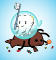 tooth win pose vector image