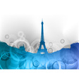 eiffel tower on the blue abstract background vector image vector image