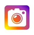 Photo camera icon flat web sign symbol logo label vector image vector image