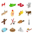 Canada isometric 3d icons set vector image