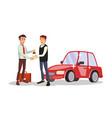 car dealer man automobile sales agent vector image