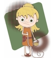girl with shopping list vector image