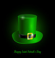 green st patrick s day hat vector image