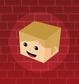 male isometric block cartoon head vector image