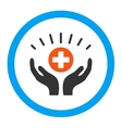 Medical Support Rounded Icon vector image
