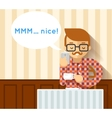 Mobile hipster coffee photo vector image