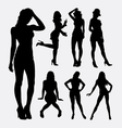 People sexy female silhouette vector image