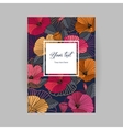 postcard with floral background vector image
