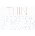 Thin letter set vector image