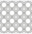 White Ornamental Seamless Line Pattern vector image