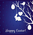 easter paper decoration in the form of tree with vector image