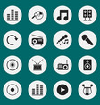 set of 16 editable multimedia icons includes vector image