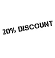20 percent discount rubber stamp vector image