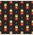 russian doll matreoshka seamless pattern vector image vector image