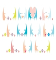 happy family icons collection vector image