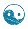 Grunge ying yang icon vector image