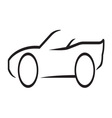 Car outline3 vector image vector image