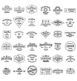 Vintage retro logo badges set vector image
