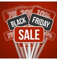 Black Friday Sale Sign with a Black Friday vector image