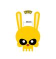 Skull hare Rabbit mask for Halloween vector image
