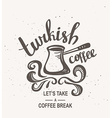 Hipster Vintage Stylized Lettering with turkish vector image vector image
