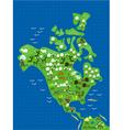 americas cartoon map vector image vector image