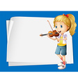 Paper design with girl playing violin vector image vector image