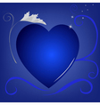 blue heart background vector image vector image