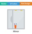 Bathroom mirror icon vector image