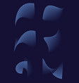 Abstract 3d shapes on blue background for printed vector image