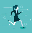 business woman people running to success vector image