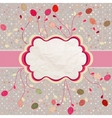 Easter eggs card with frame and polka dot EPS 8 vector image