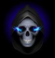 Flaming Skull death 03 vector image
