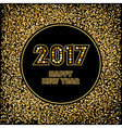 Golden New Year background vector image