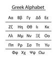 greek alphabet vector image