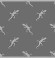 grey salamander seamless pattern vector image