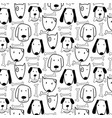 hand drawn cute dog and bone pattern vector image