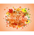 Happy Thanksgiving Day watercolor logotype badge vector image
