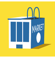 Market and shopping bag flat vector image
