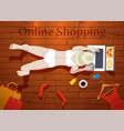 online shopping at home vector image