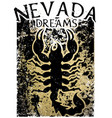 scorpion t shirt graphic design vector image
