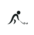 Winter sport Hockey icon monochrome vector image